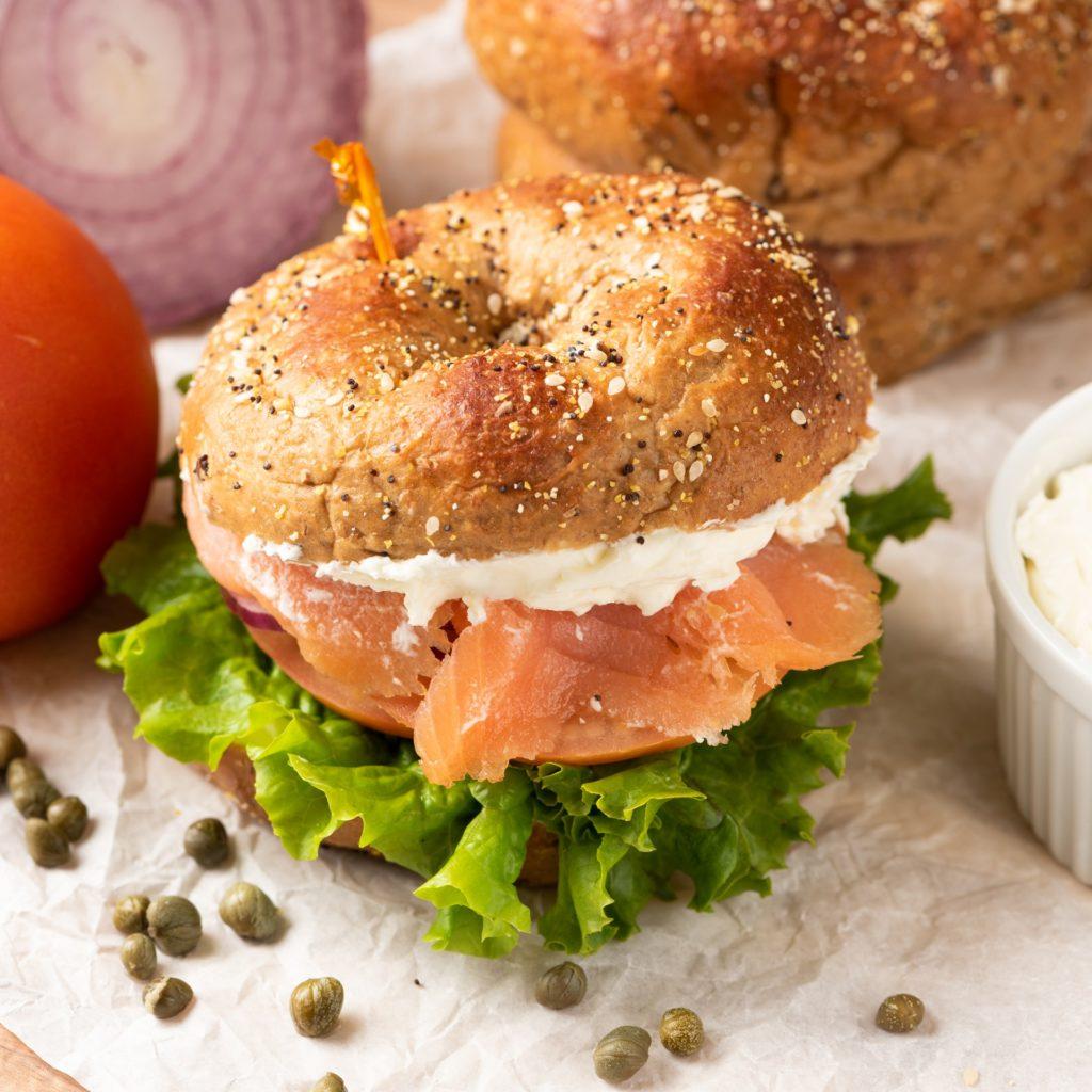 Perfect 10 Lox Sandwich