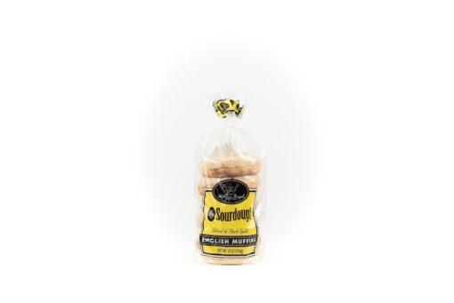 Sourdough English Muffins in a plastic bag