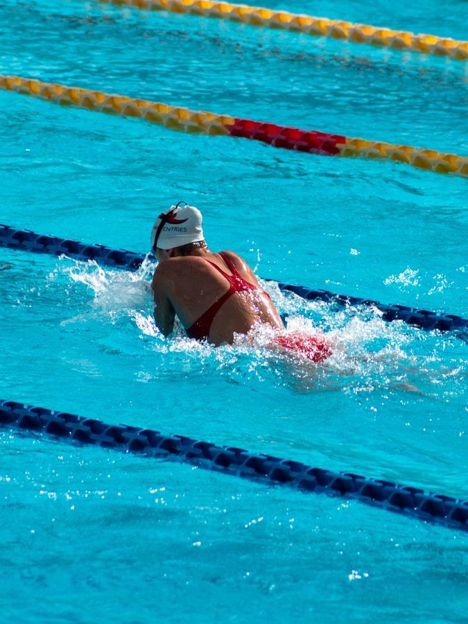 Women Swimming Breast Stroke.